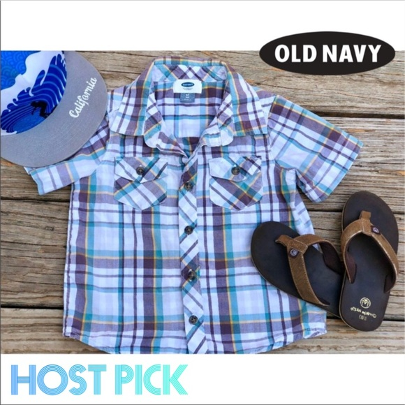 Old Navy Other - 🎉HP🎉. 🇺🇸Old Navy🇺🇸 Boys Plaided short sleeve